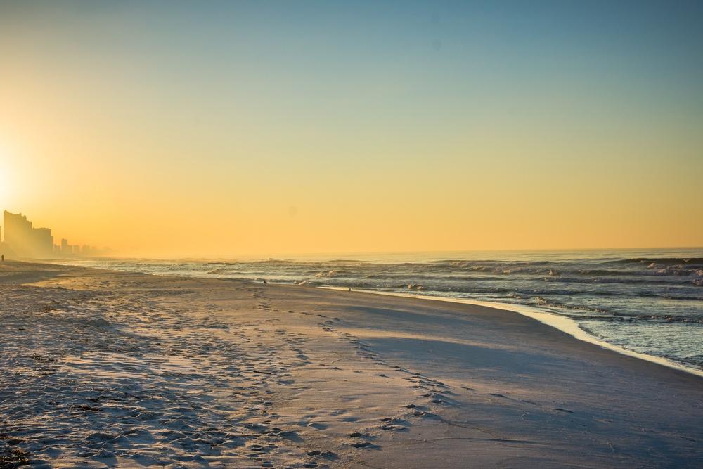 sunrise at panama city beach